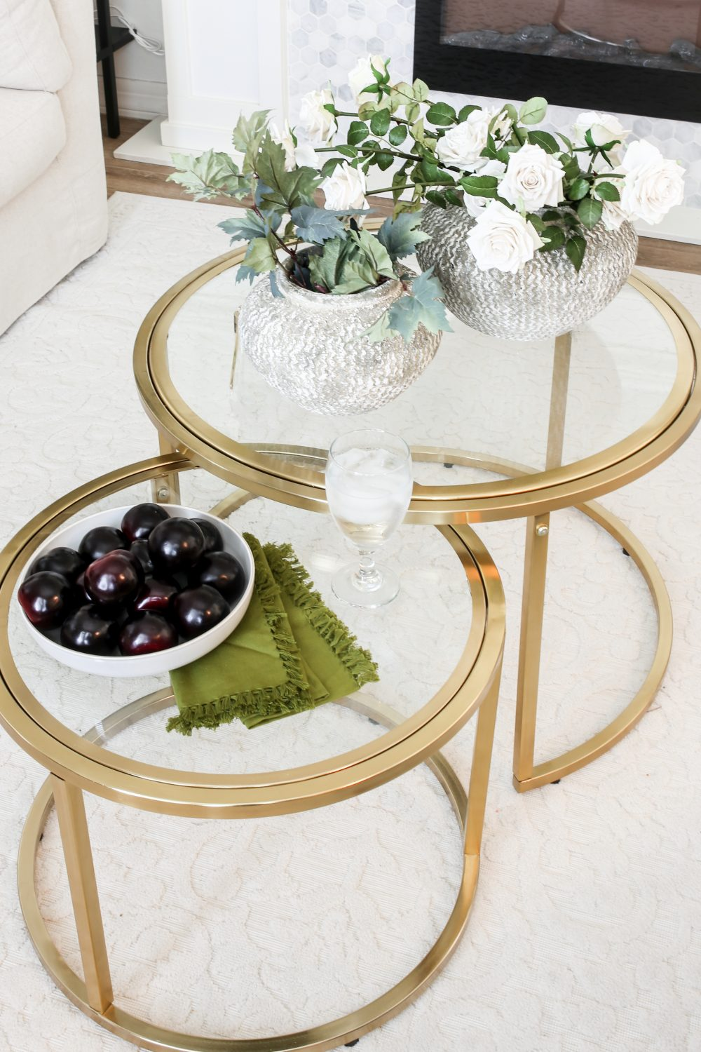 Elegant Gold and Glass Table for the Living room