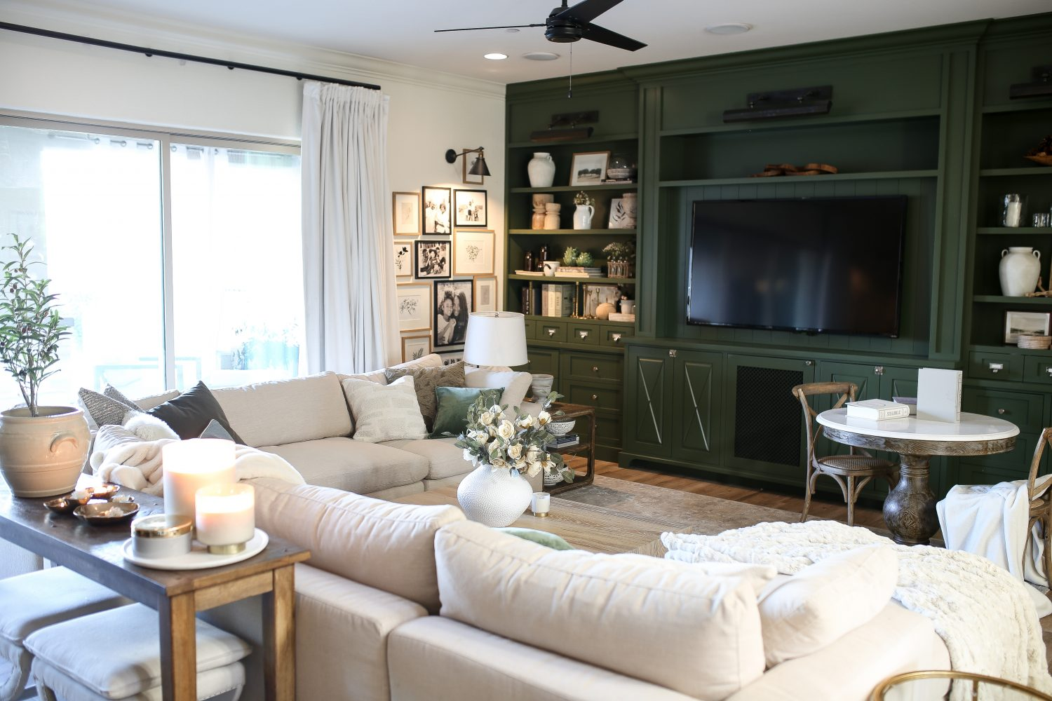 Family Room with Arhaus Sectional