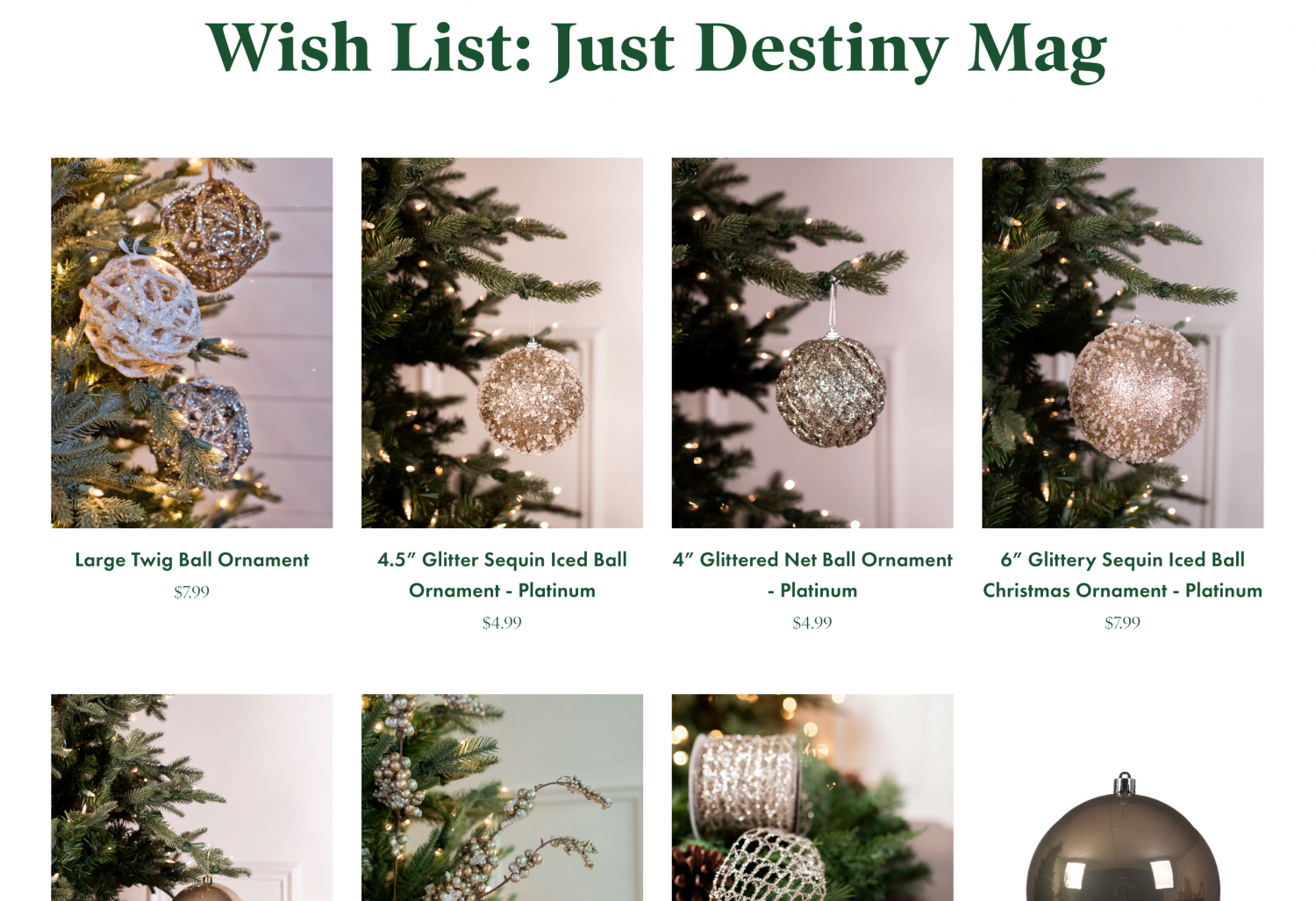 Elegant Christmas Tree Decor