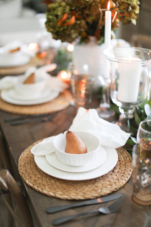 White Gibson Dinnerware Set for Table
