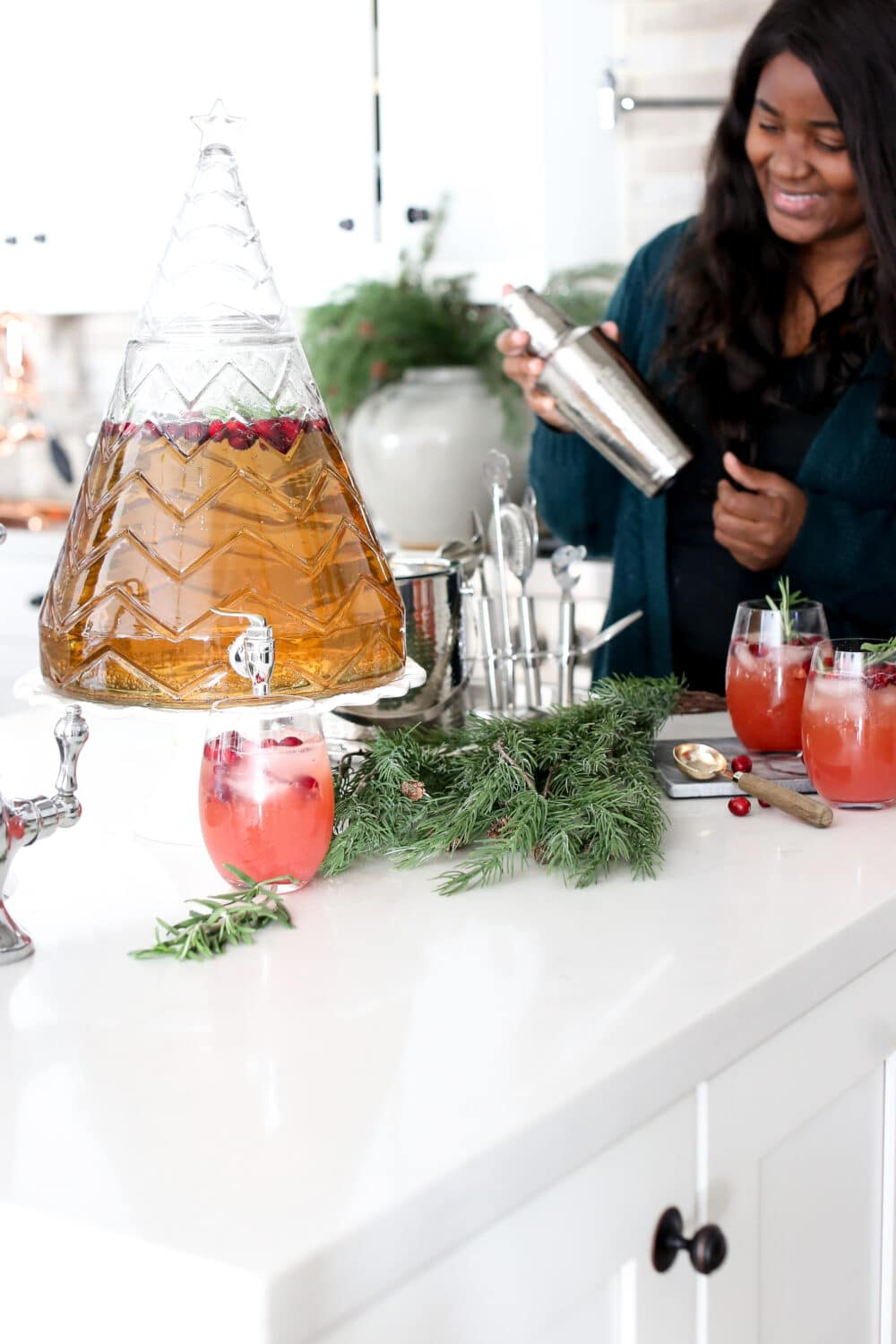 Christmas Mocktail with Cranberries