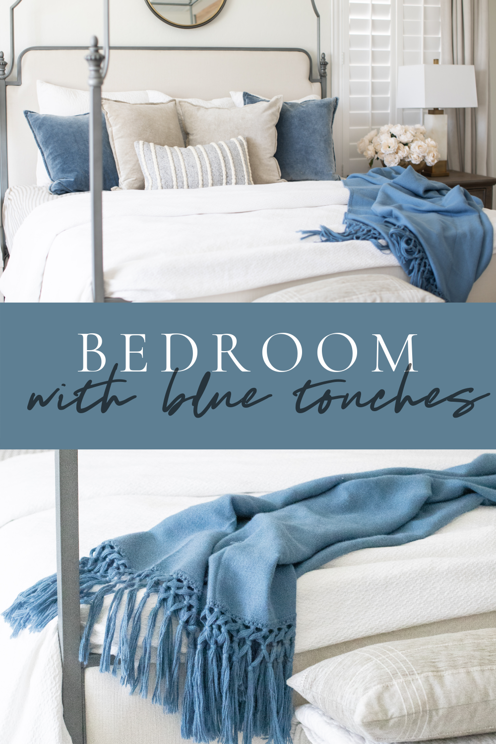 Adding blue to your bedroom can be super simple! Gorgeous details and tips from Just Destiny Home are here just for you!