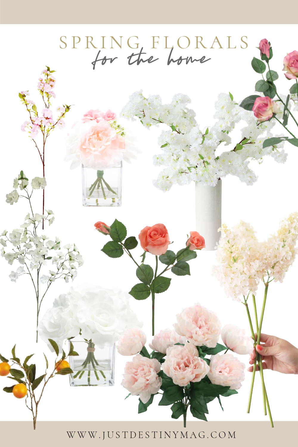SPRING FLORAL IDEAS FOR THE HOME