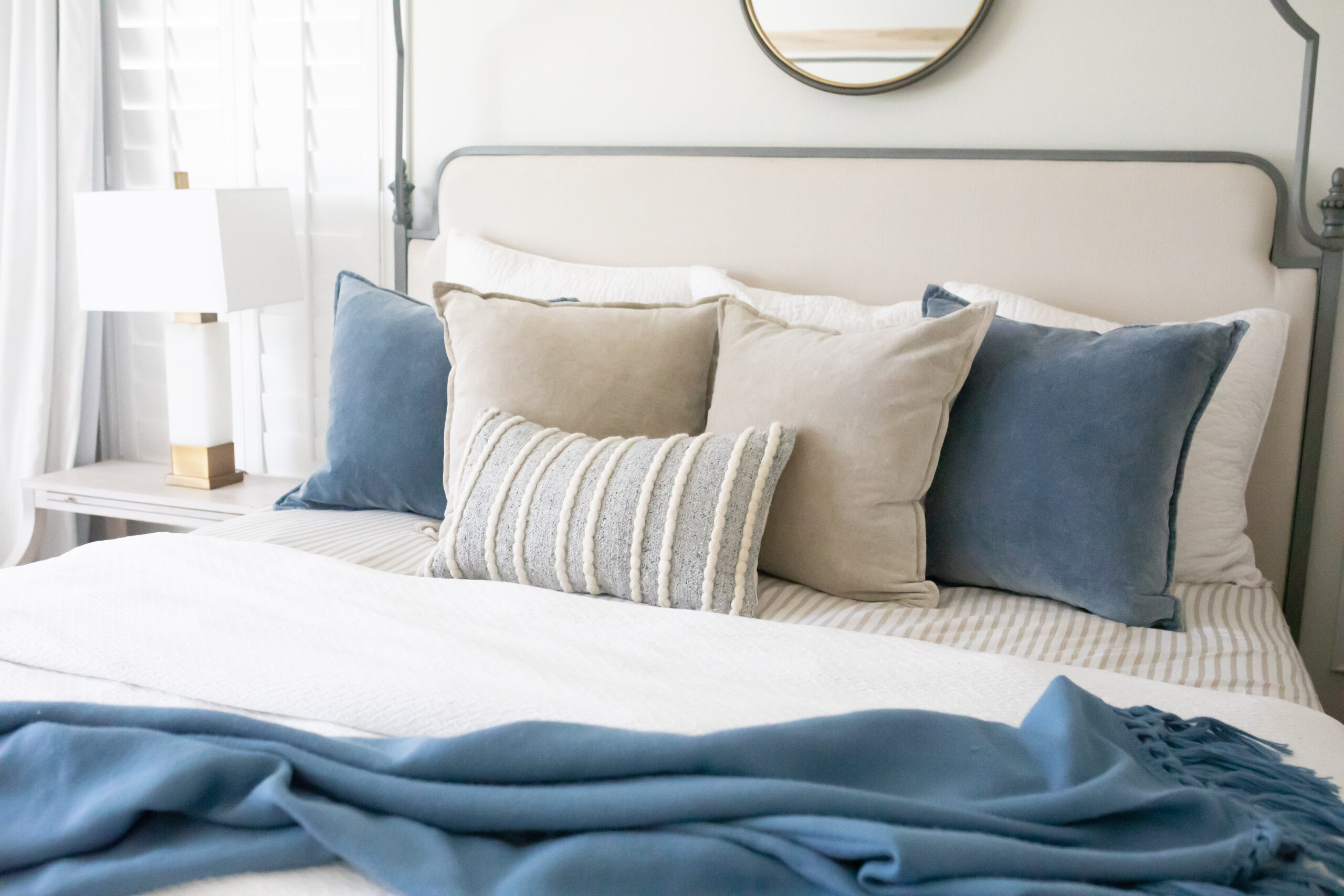Arhaus Throw Pillows for the bed