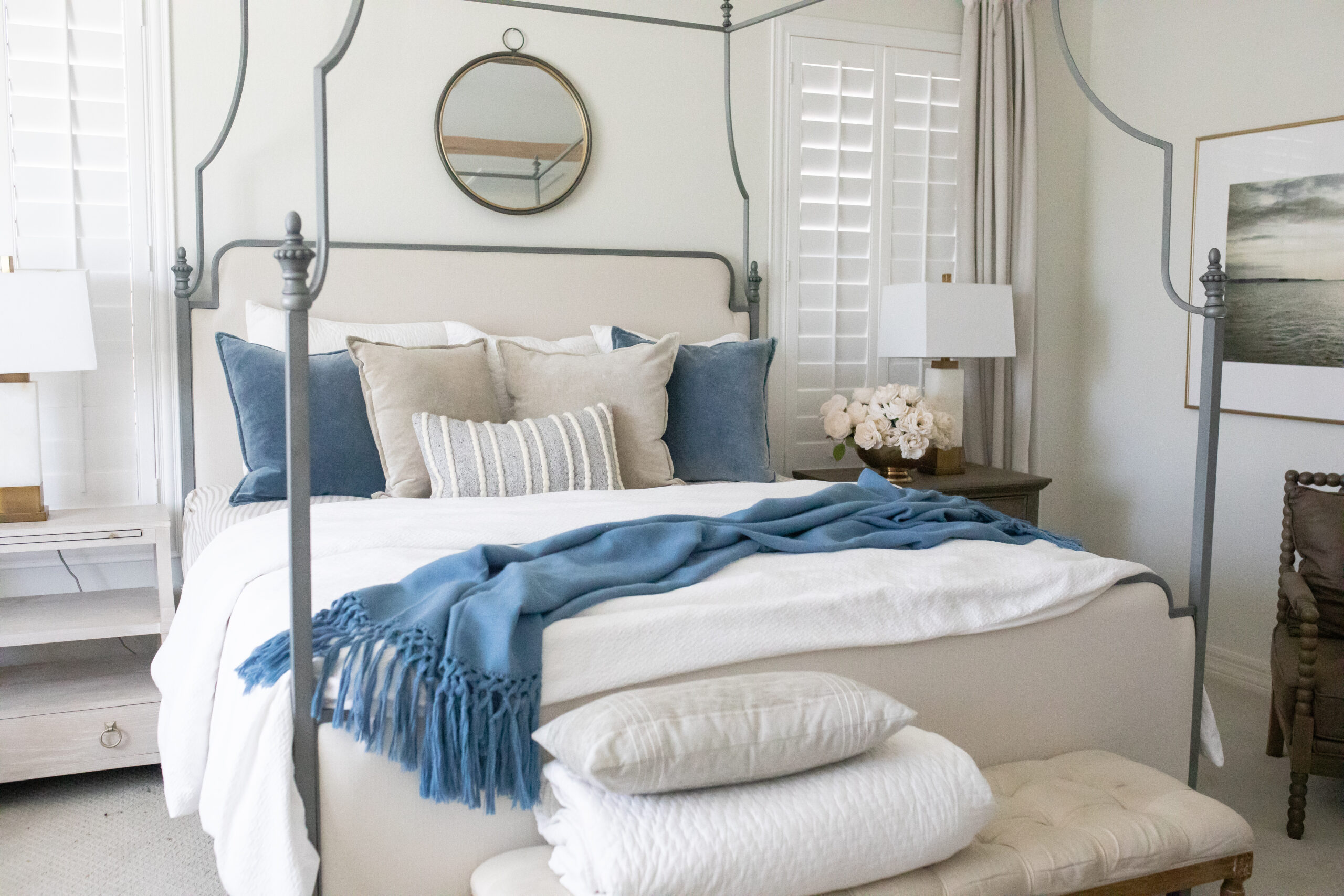 Bedroom with a touch of blue