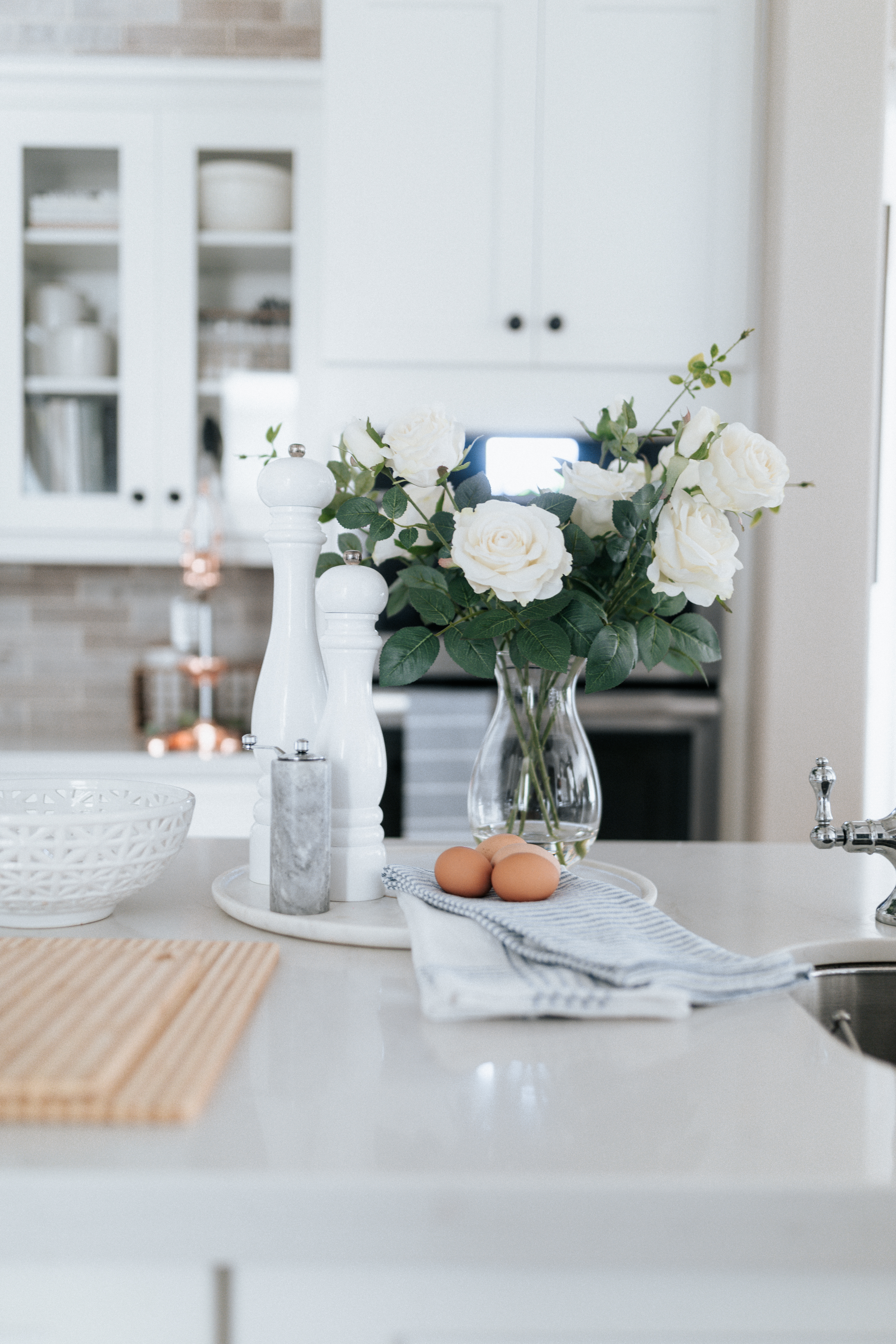 Flowers on the Kitchen Counter