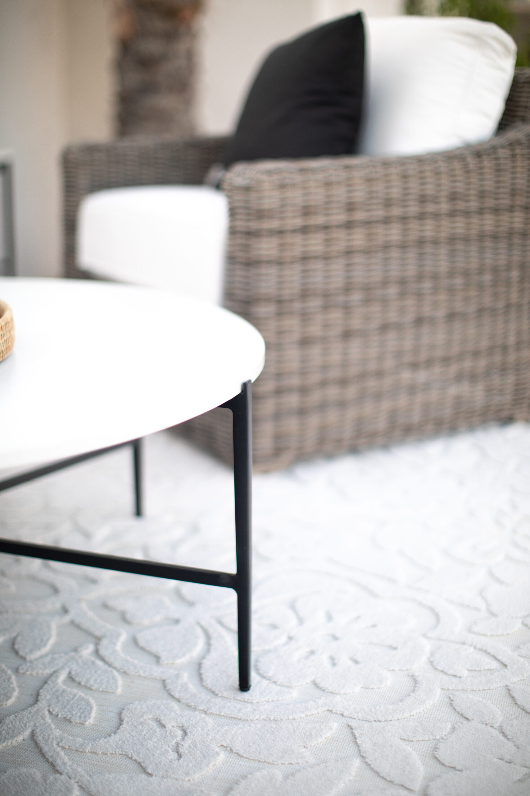 White Outdoor Rug that is easy to clean