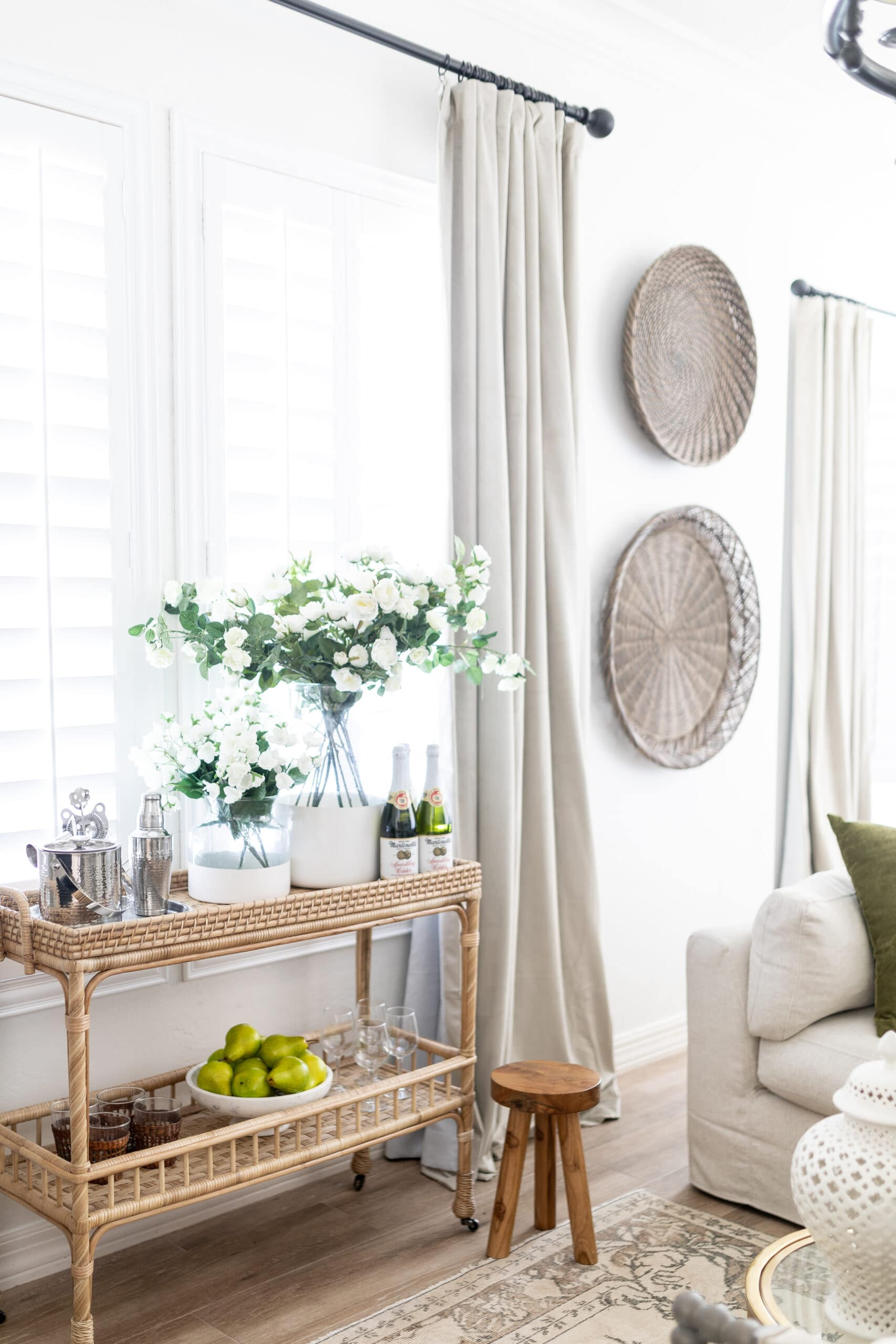3 Ways to Use the Serena and Lily's South Seas Console and Bar Cart